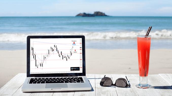 Лятна търговия на финансови пазари