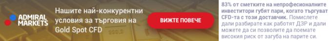 Търгувайте злато с Admiral Markets
